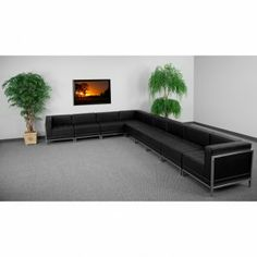 Flash Furniture HERCULES Imagination Series Sectional Configuration [ZB-IMAG-SECT-SET3-GG] SKU: ZB-IMAG-SECT-SET3-GG Features: Black Leather Upholstery Smooth Back and Tufted Seat Design Taut Seat and Back Fixed Seat and Back Cushion Foam Filled Cushions Straight Arm Design Accent Bar Frames Chairs CA117 Fire Retardant Foam Availability: 1 Color(s) Available Pricing: $2479.99