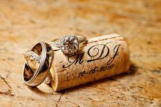 Monogrammed corks!
