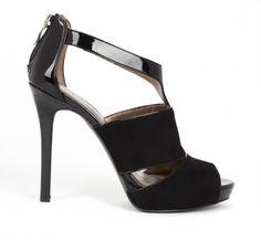Sexy Black Peep Toe Heels