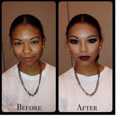 Power of contouring. Rarely do i use foundation, I like to let my skin breath! all I need is concealer and bronzer.