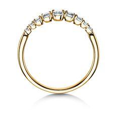 Verlobungsring Nine Diamonds in 18K Gelbgold