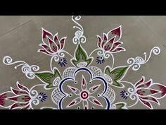 Rangoli Designs Latest, Latest Rangoli, Simple Rangoli Designs Images, Colorful Rangoli Designs, Festival Rangoli, Free Hand Rangoli Design, Muggulu Design, Easy Rangoli, Sexy Blouse