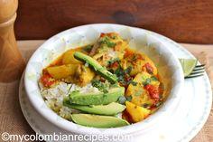 Sudado de Pollo --Chicken stew from Colombia My Colombian Recipes, Colombian Cuisine, Healthy Eating Tips, Healthy Recipes, Healthy Meals, Crockpot Recipes, Chicken Recipes, Chicken Ideas, Cookbook Recipes