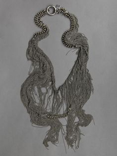 SILVER NECKLACE WITH MULTIPLE CHAIN FRINGES