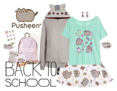 """""""#PVxPusheen"""" by jaci-dacosta ❤ liked on Polyvore featuring Pusheen, contestentry and PVxPusheen"""