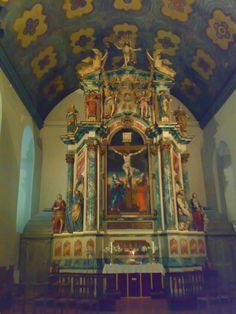 Interior of Vår Frue church in Trondheim, Norway