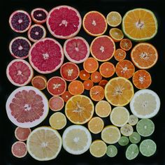 This photo by Emily Blincoe is more than a study in color, it's a stunning tribute to the segmented beauty of citrus – to the liths and locules that every member of the genus shares in common, despite their many variations in size, savor and hue.
