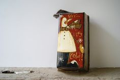 Christmas Snowman Decoration Hand Painted Snowman by Ramshackles, $11.95