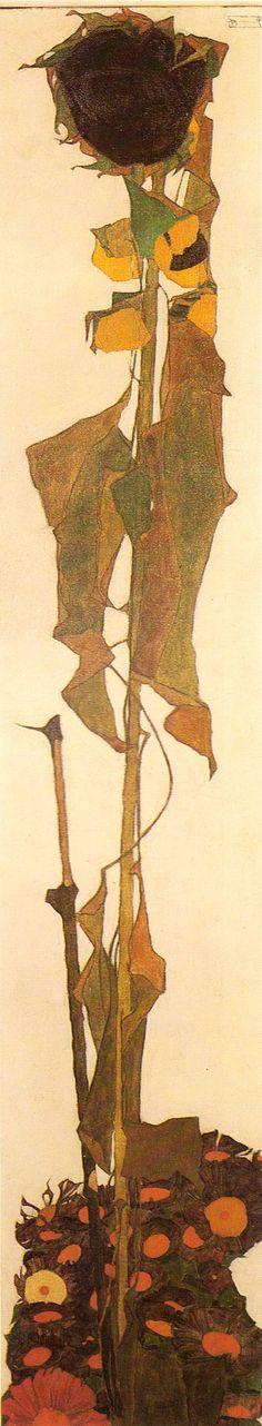 Egon Schiele, Sunflower on ArtStack #egon-schiele #art