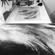 Just enjoying ink for what it is. Monoprint Artists, Printmaking, Monochrome, Polaroid Film, Ink, Instagram, Monochrome Painting, Printing, India Ink