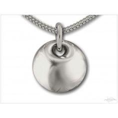 As-sieraad: Ronde bolle hanger zilver