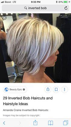 Inverted Bob Haircuts, Bobs, Amanda, Short Hair Styles, Hair Cuts, Hair Beauty, Hairstyles, Colors, Haircuts