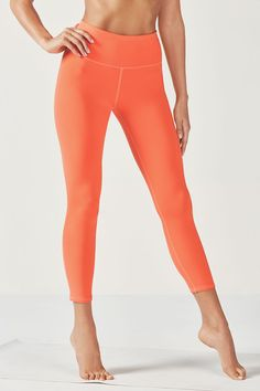 Lisette High-Waisted 7/8 Capri - Fiery Orange