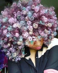 Cotton candy #curls Gorgeous @naturallytash ✨#voiceofhair voiceofhair.com
