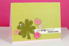 Lucky In Love Card by Erin Lincoln for Papertrey Ink (March 2014)