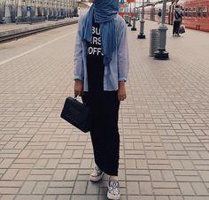Casual hijab look Hijab ootd School hijab outfit -Golovkova.s