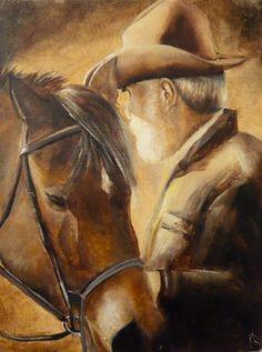 "Daily Paintworks - ""Best of friends"" - Original Fine Art for Sale - © Karen Robinson"