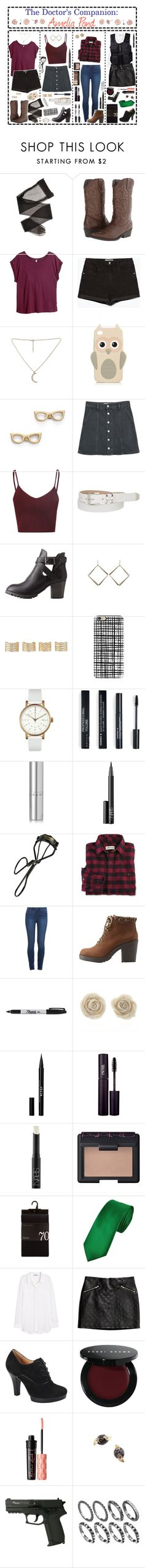 """""""- ̗̀ the Doctor's Companion: Amelia Pond  ̖́-"""" by i-get-a-little-bit-breathless ❤ liked on Polyvore featuring Madden Girl, H&M, Zara, Kate Spade, MANGO, Glamorous, maurices, Charlotte Russe, Maison Margiela and Casetify"""