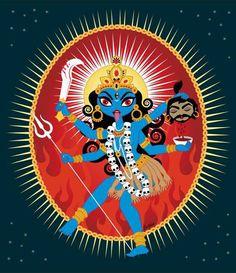 Rare sweet Kali Maa cartoon image