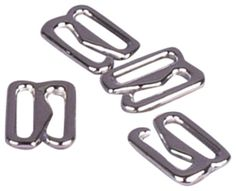 "#Silver #metal alloy hooks that measure 3/8"" or 10mm on the interior. Used on bra straps, tank top straps and headbands."