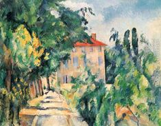 House With Red Roof Paul Cezanne Reproduction | 1st Art Gallery