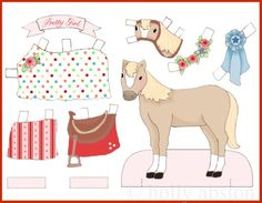 horse paperdoll by Holly Abston, via Flickr