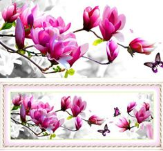 Amazon.com: Free Shipping 3d European Cross Stitch Patterns Fabric Cross Stitch Sets Kits Supplies Home Decor Crafts Diy 100% Exquisite Embroidery Fall in Love with the Magnolia C-204: Arts, Crafts & Sewing