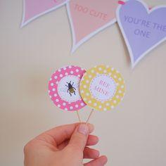 Valentine Decorations, free printables