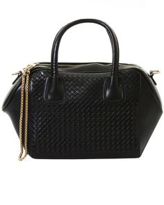 ILWF Black Quilted Chain Tote Bag - In Love With Fashion