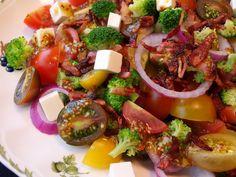 Ensalada de brócoli y bacon