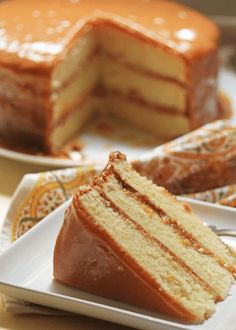 This southern caramel cake recipe is the real deal caramel cake. It puts other caramel cake recipes to shame. The caramel icing (definitel. Southern Caramel Cake, Southern Desserts, Just Desserts, Desserts Caramel, Southern Recipes, Holiday Desserts, Caramel Recipes, Coke Recipes, Caramel Candy