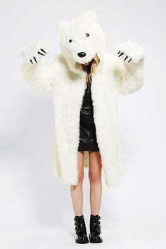 polar bear costume. roar.