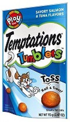 Temptations Tumblers Savory Salmon & Tuna 2.47oz Pack of 3 #Temptations