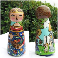 St Emma / Saint Emma Wooden Peg DollMade to by ThisLittlePeggy, $28.00