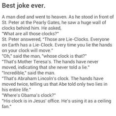Only not so funny. Or quite a joke. Actually it's a very sad TRUTH.