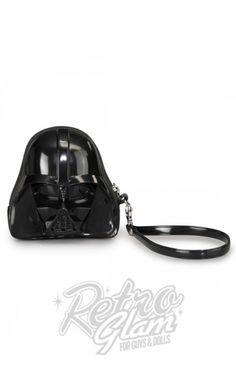 Retro Glam - Loungefly Star Wars Darth Vader Darkside Black 3D Coin/Clutch Bag