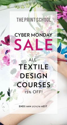 Learn our pro textile design techniques today! off all our of textile design courses for the next 24 hours! Written and presented by our experienced designers. Textile Design Courses, Art Tutor, Repeat, Screen Printing, Designers, Photoshop, Textiles, Writing, Learning