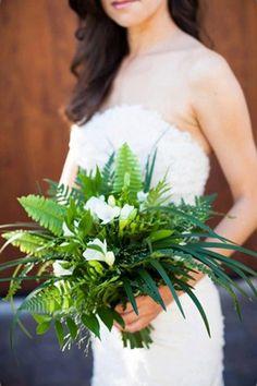 foliage fern bouquet brides of adelaide magazine
