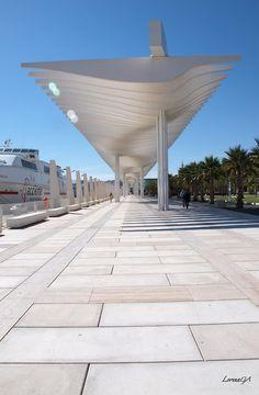 Geometría. Muelle Uno Chill Pill, Andalucia, Architecture Design, Centre, Landscape, Outdoor Decor, Travel, Boat Dock, Earth