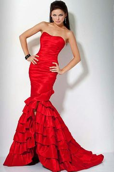 f067f6f6135 Gorgeous Long Red Evening Dresses Elegant Prom Dresses
