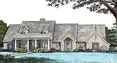 Country Style House Plans - 1902 Square Foot Home , 1 Story, 4 Bedroom and 2 Bath, 3 Garage Stalls by Monster House Plans - Plan 8-189