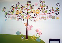 Jennifer's Scroll Tree Nursery for Twin Girls
