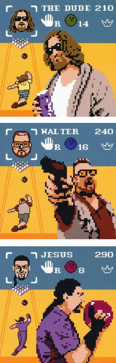 The Big Lebowski en pixel art !
