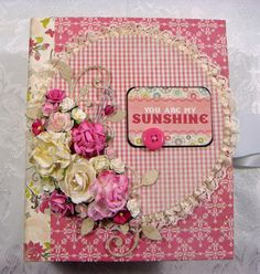 TPHH Sharon Chipboard PREMADE Two Waterfalls Photo Scrapbook Album with Magnets
