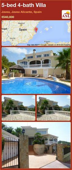5-bed 4-bath Villa in Javea, Javea   Alicante, Spain ►€540,000 #PropertyForSaleInSpain