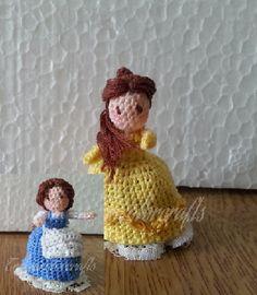 Mini Crocheted Topsy-Turvy doll (Belle)