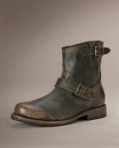 Outbid: Old 1930s TALL Horsehide Leather BIKER Engineer Boots