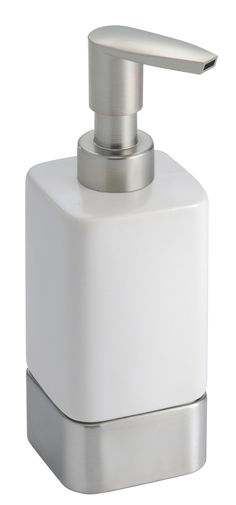 Features:  -Refillable dispenser for soaps and lotions.  -Durable, functional and stylish design.  Product Type: -Soap dispenser/Lotion dispenser.  Finish: -White.  Mount Type: -Freestanding.  Life St