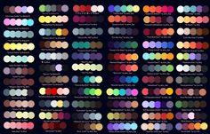 Colour Palettes No. 1 by Striped-Tie.deviantart.com on @DeviantArt