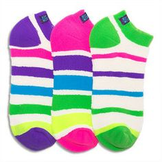 Girls' Socks | Reversible Loop Terry Zany Stripes Liner Socks